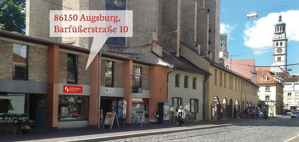 Mittendrin in Augsburg. Zwischen Rathaus und Fuggerei.